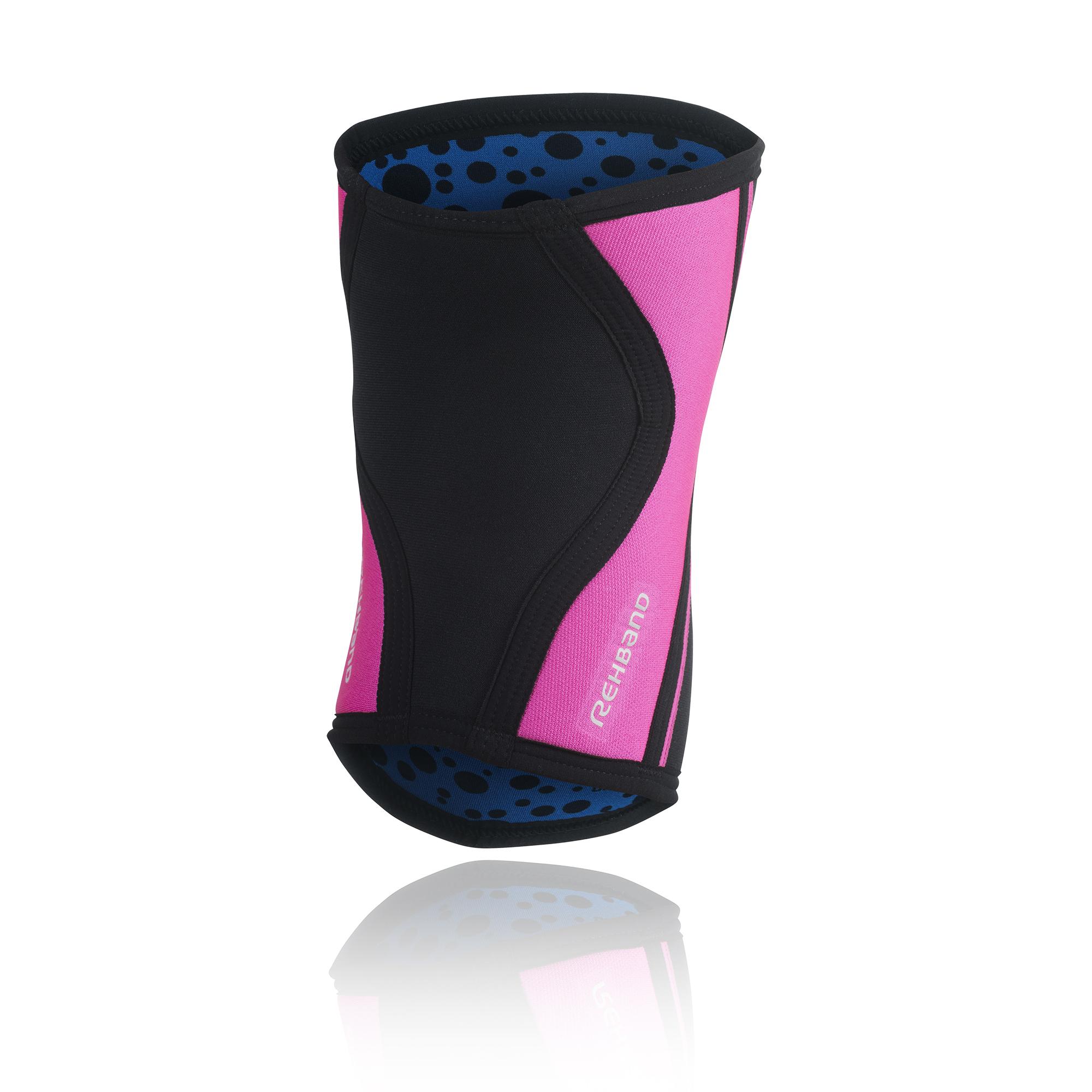 fe84f1d4f9 Rehband 105333 RX Knee Sleeve – Black/Pink, 5mm Neoprene – Jackal's Gym