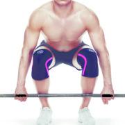 105434_Rehband_Rx line_Knee Support 7mm_Pink line_Black